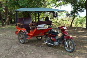 An example of a tuk-tuk. This was not the one I took for the fishing trip